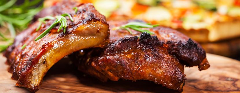 Receta costillas de cerdo con miel y mostaza.